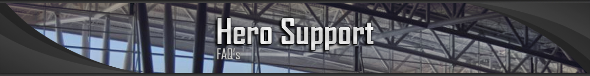 Hero support faq's